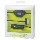 LCD FM Transmitter Car Charger for iPhone / iPad